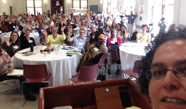 NAMA Coordinating Director Niaz Dorry takes a selfie at the 5th New England Food Summit