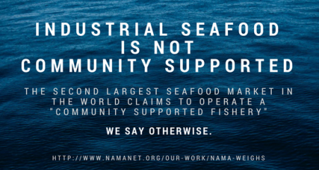 Industrial seafood is not community supported